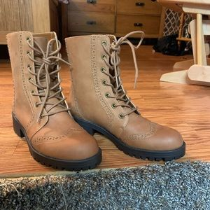American Eagle Outfitters Chestnut Combat Boots